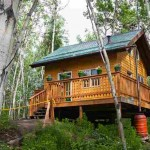 Cabin for sled dogs in Fairbanks Alaska