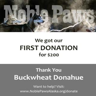 nonprofit sled dog donation