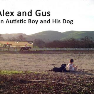 Alex and his service dog Gus.
